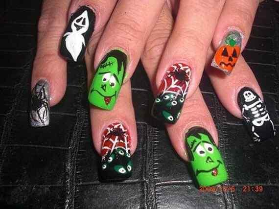 Ideas pintar unas halloween (8)