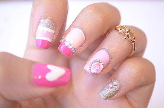 Pink nails - uñas color rosa