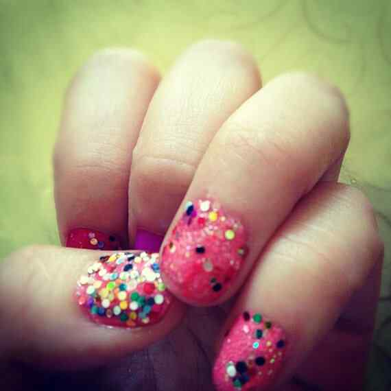 Pink nails unas color rosa (14)