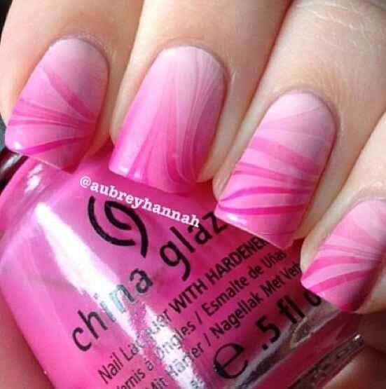 Pink nails unas color rosa (2)