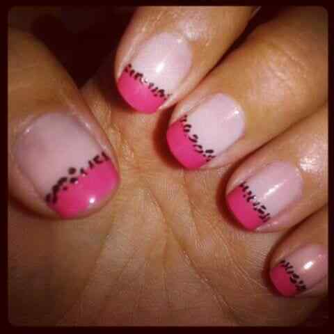 Pink nails unas color rosa (28)