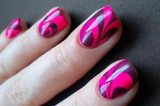 Pink nails unas color rosa (3)