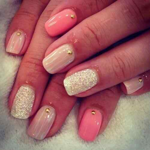 Pink nails unas color rosa (30)