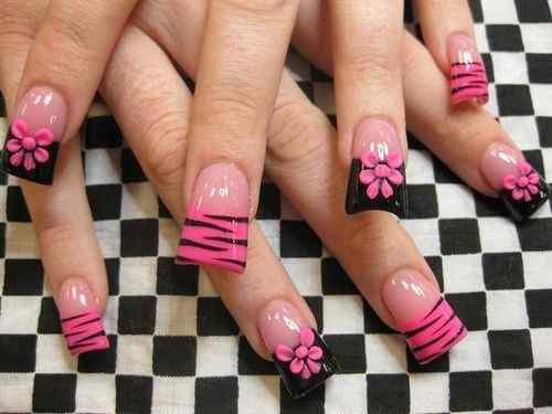 Pink nails unas color rosa (36)