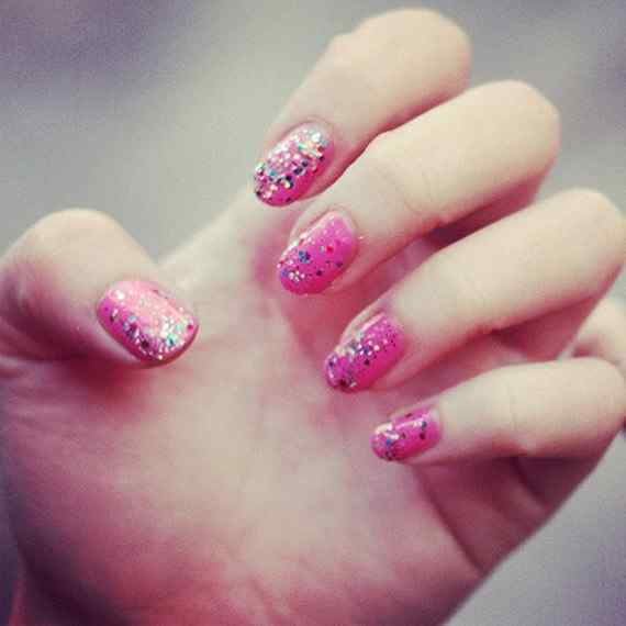 Pink nails unas color rosa (38)
