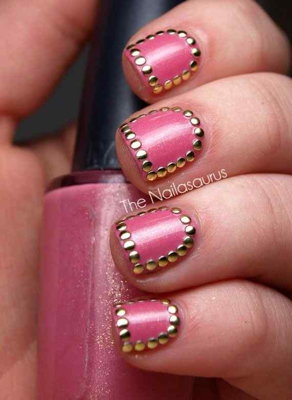 Pink nails unas color rosa (39)