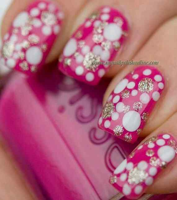 Pink nails unas color rosa (4)