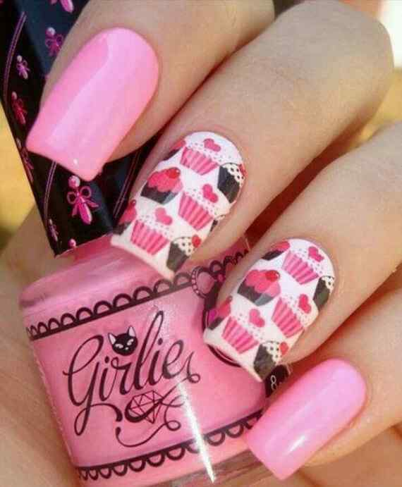 Pink nails unas color rosa (40)