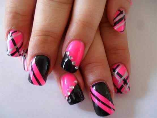 Pink nails unas color rosa (41)