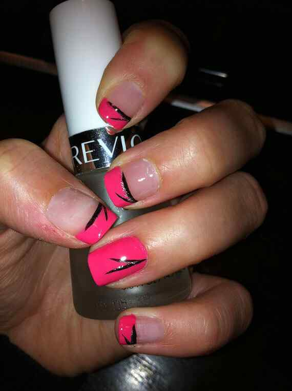 Pink nails unas color rosa (43)