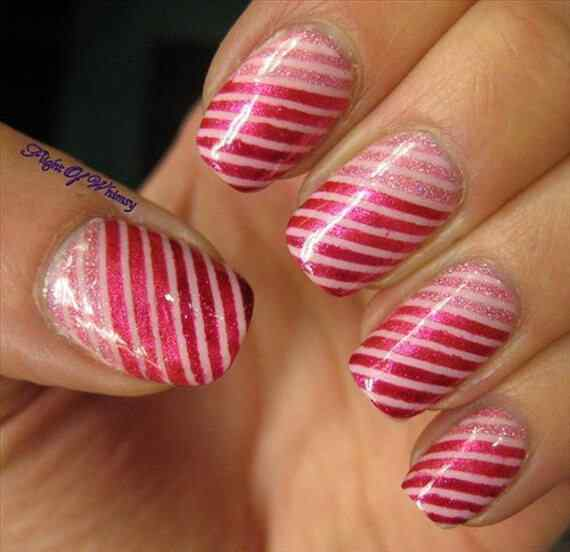 Pink nails unas color rosa (46)