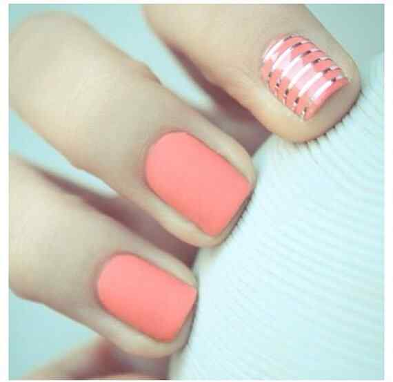 Pink nails unas color rosa (48)