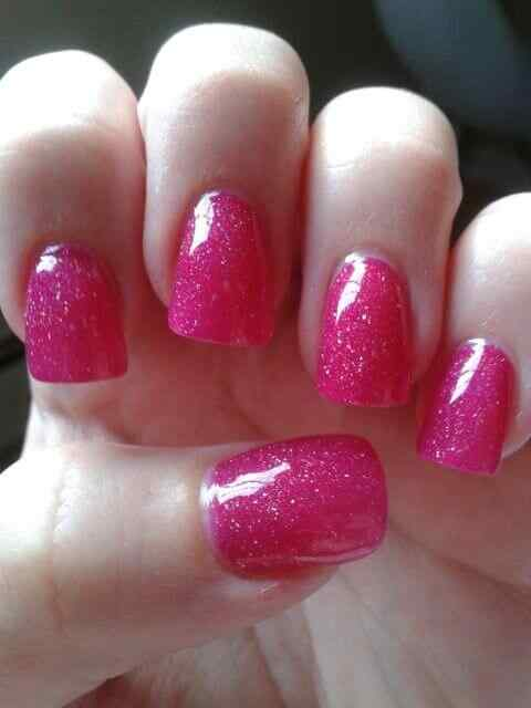 Pink nails unas color rosa (5)