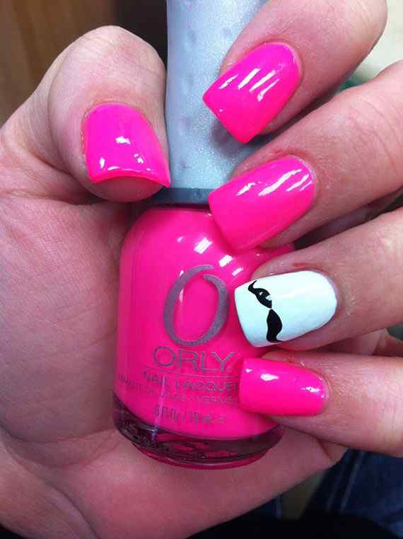 Pink nails unas color rosa (50)