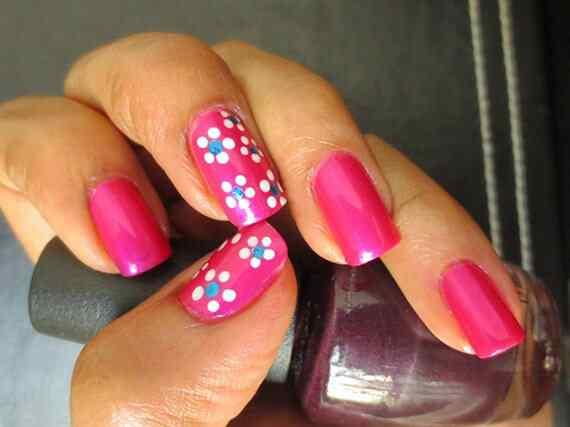 Pink nails unas color rosa (53)