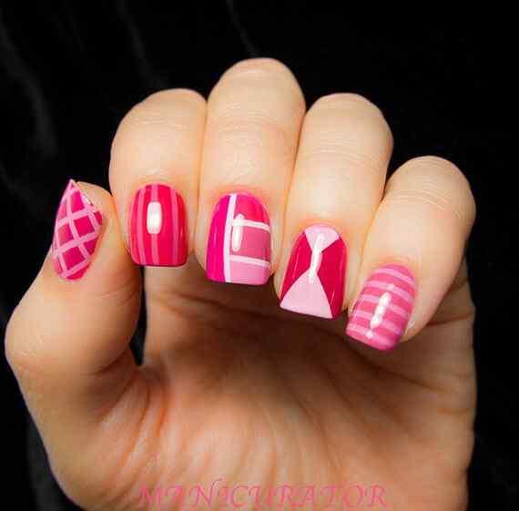 Pink nails unas color rosa (54)