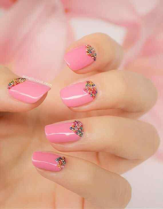 Pink nails unas color rosa (57)