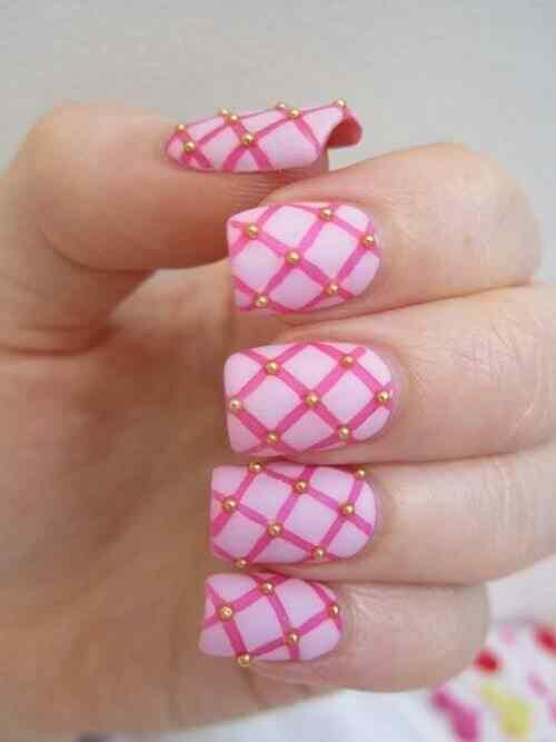Pink nails unas color rosa (58)