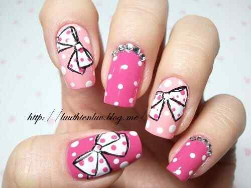 Pink nails unas color rosa (61)