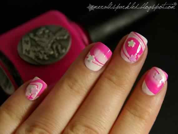 Pink nails unas color rosa (65)