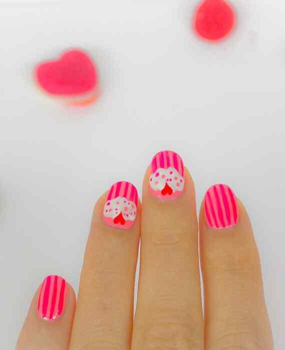 Pink nails unas color rosa (69)