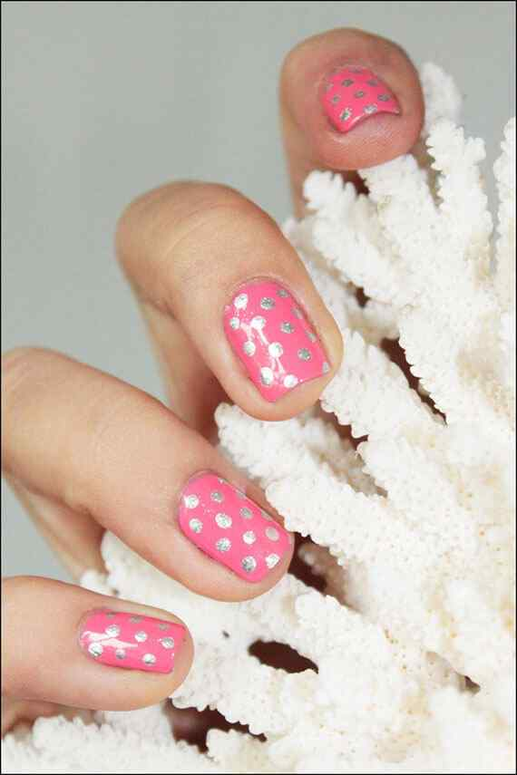 Pink nails unas color rosa (7)