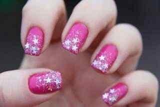 Pink nails unas color rosa (74)