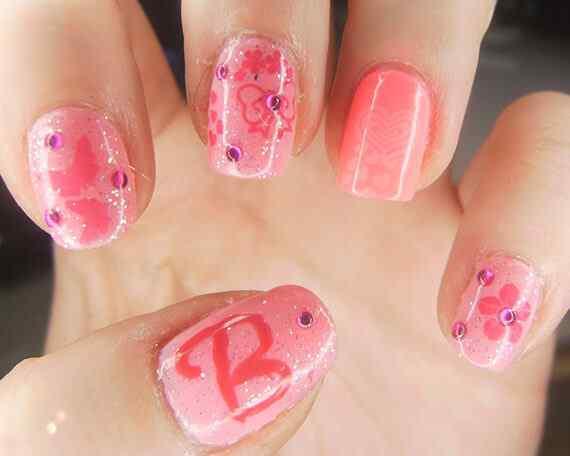 Pink nails unas color rosa (77)