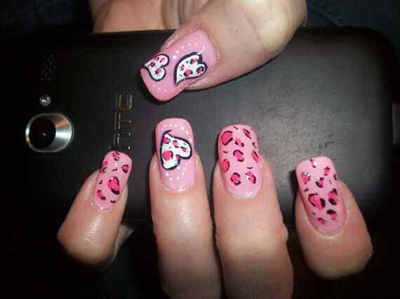 Pink nails unas color rosa (78)