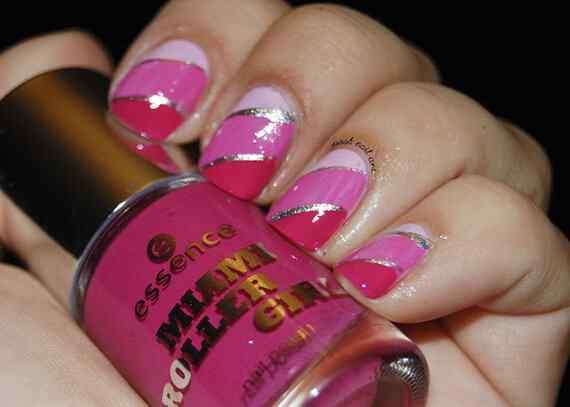 Pink nails unas color rosa (81)