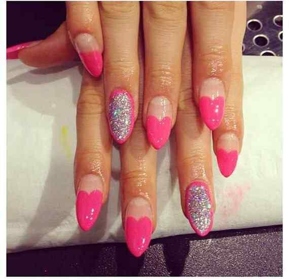 Pink nails unas color rosa (83)