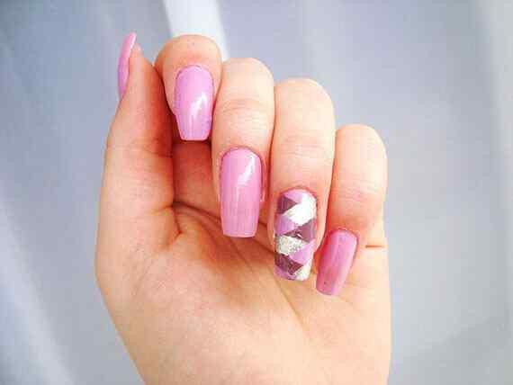 Pink nails unas color rosa (89)