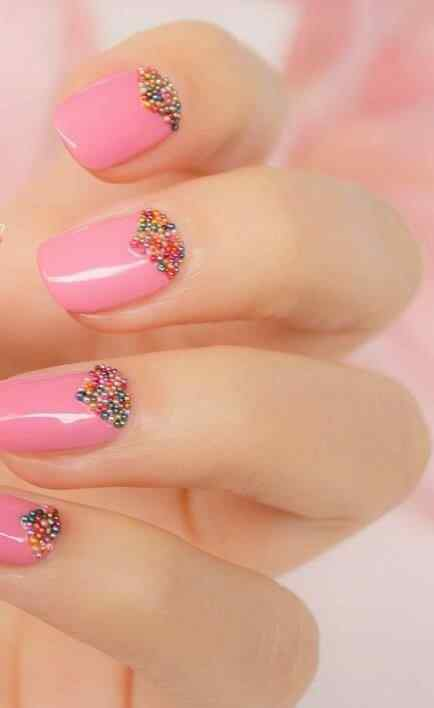 Pink nails unas color rosa (9)
