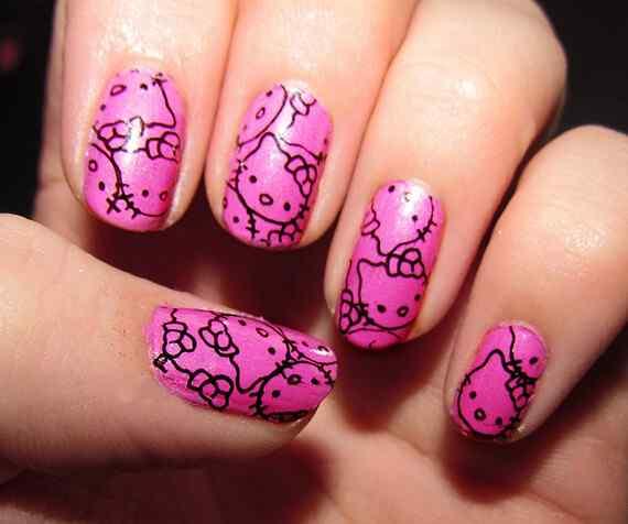 Pink nails unas color rosa (95)