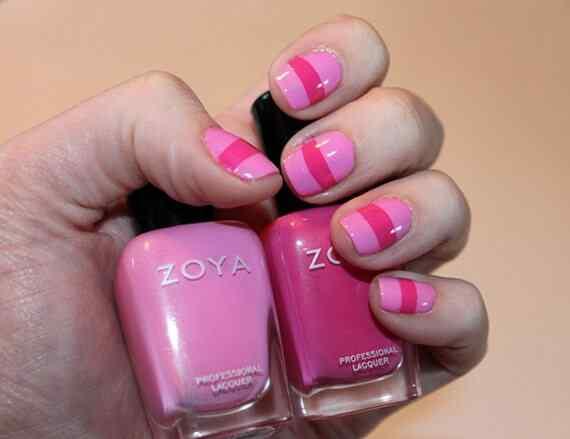 Pink nails unas color rosa (96)