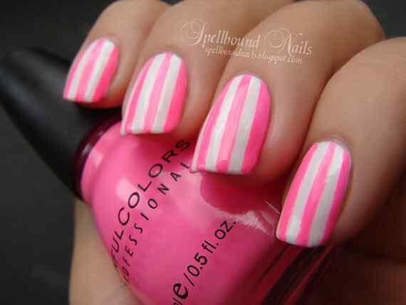 Pink nails unas color rosa (98)