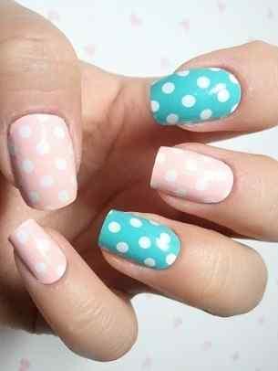 Unas celeste  - light blue nails (11)