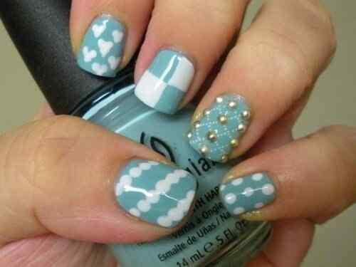 Unas celeste  - light blue nails (12)