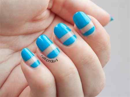 Unas celeste  - light blue nails (15)