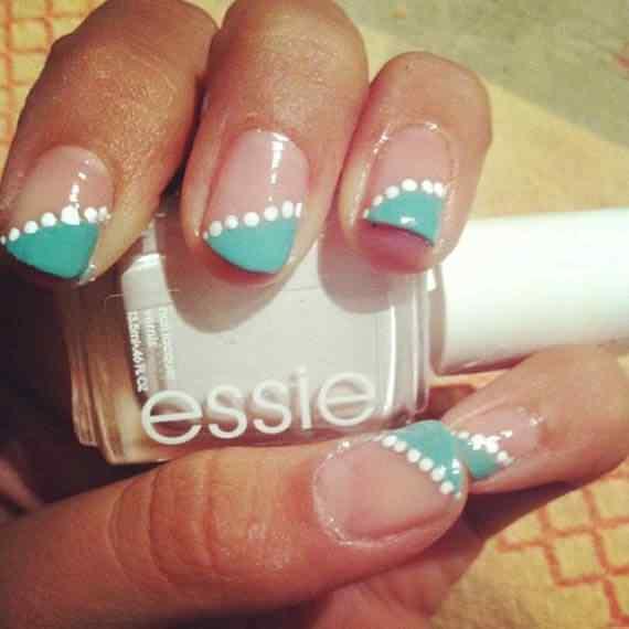 Unas celeste  - light blue nails (16)