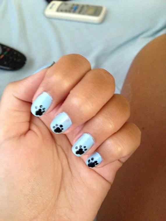 Unas celeste  - light blue nails (17)