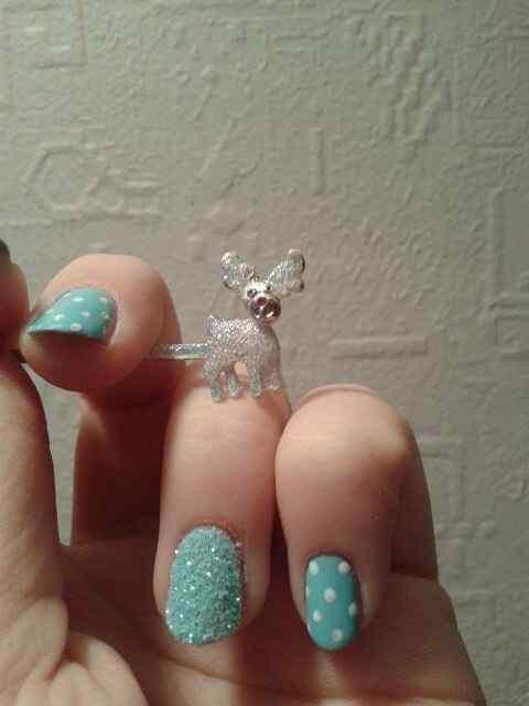 Unas celeste  - light blue nails (18)