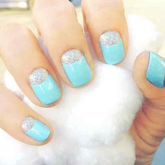 Unas celeste  - light blue nails (2)