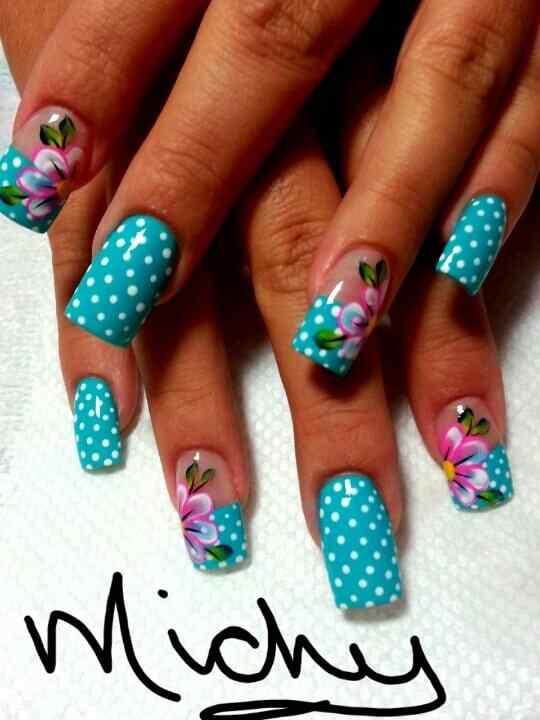 Unas celeste  - light blue nails (20)