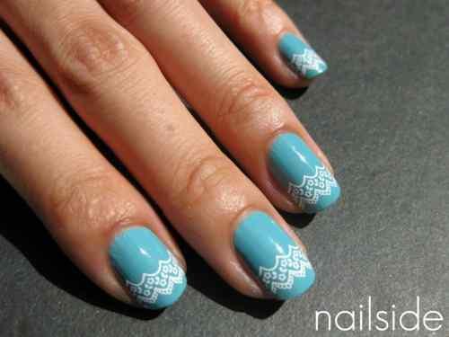 Unas celeste  - light blue nails (21)