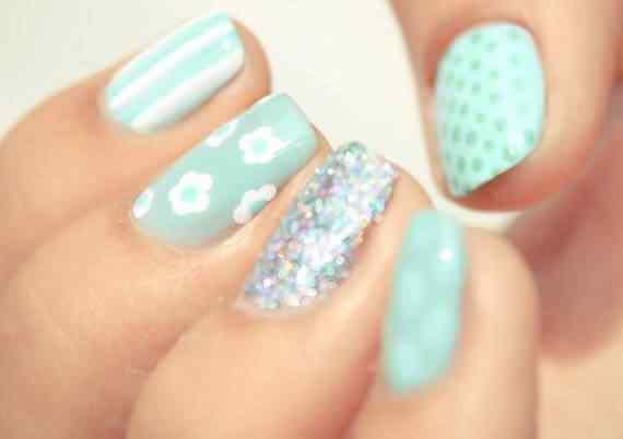 Unas celeste  - light blue nails (23)