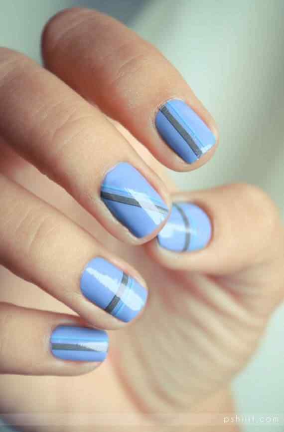 Unas celeste  - light blue nails (26)