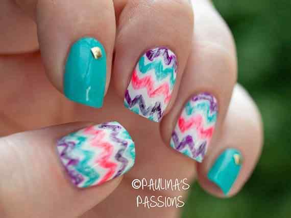 Unas celeste  - light blue nails (27)