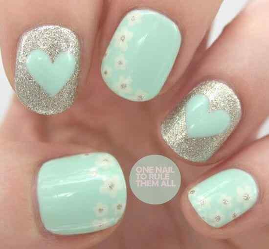 Unas celeste  - light blue nails (29)