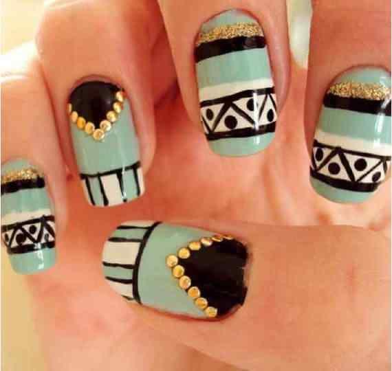 Unas celeste  - light blue nails (31)